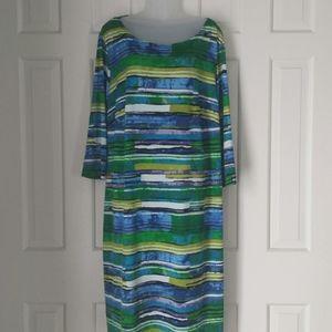 Tiana B. Watercolor midi dress size 2x